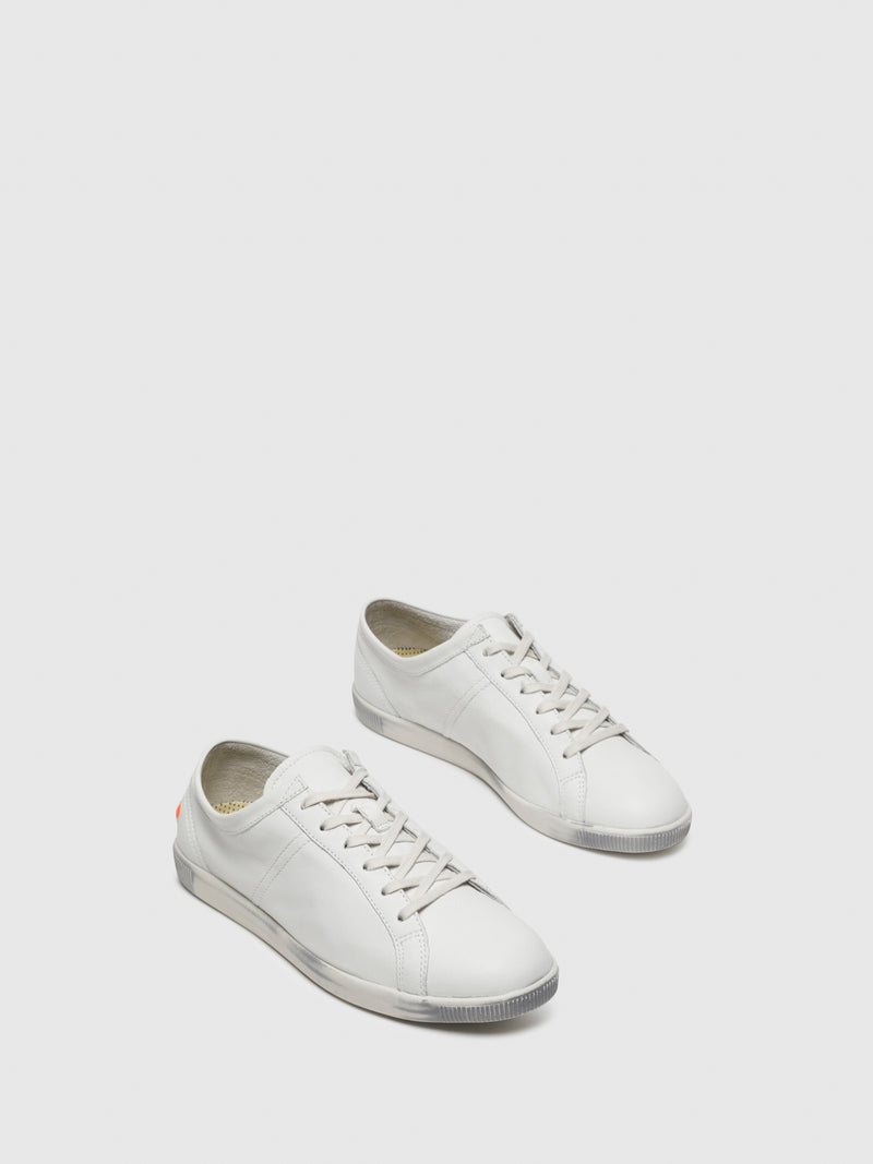 Softinos White Lace-up Trainers