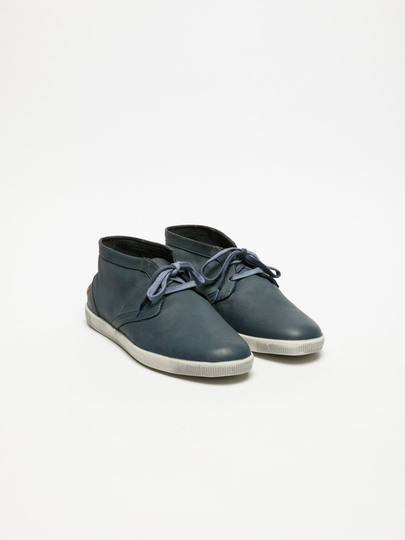 SOFTINOS SteelBlue Low-Top Trainers