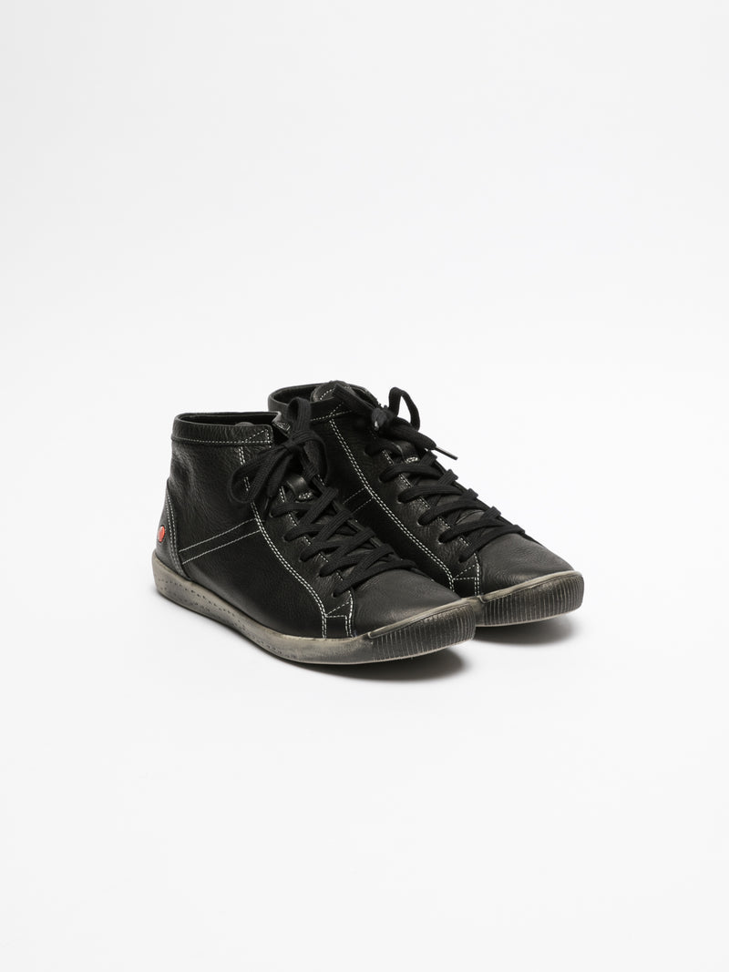 Carbon Black Hi-Top Trainers