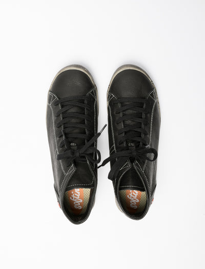 SOFTINOS Carbon Black Hi-Top Trainers