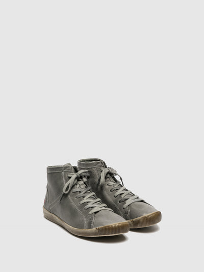 Softinos Hi-Top Trainers ISLEEN MILITAR GREEN (LIGHT GREY SOLE)