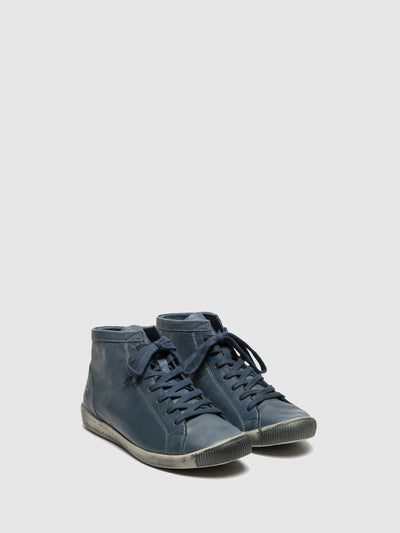 Softinos Hi-Top Trainers ISLEEN NAVY (LIGHT GREY SOLE)