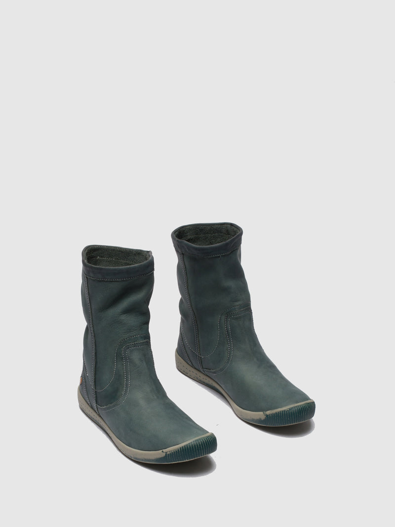 SeaGreen Round Toe Ankle Boots