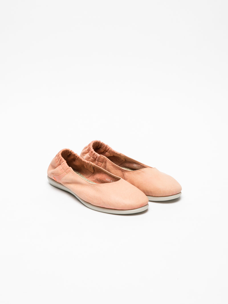 Softinos Coral Round Toe Ballerinas