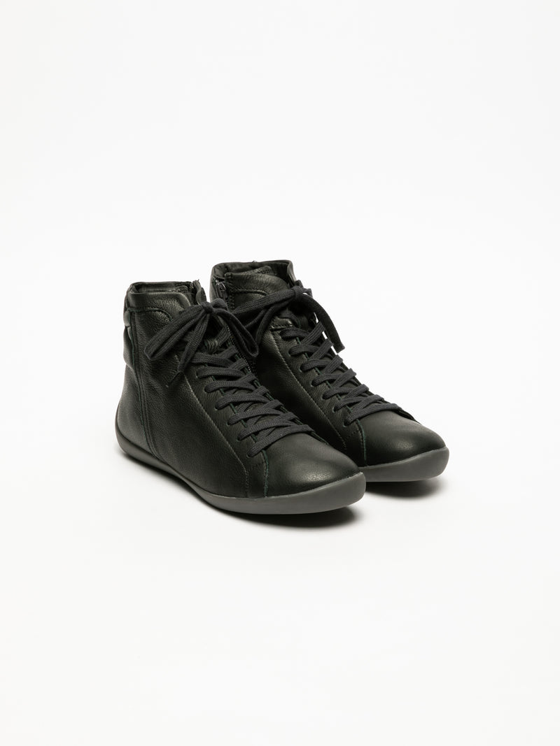 Softinos Black Hi-Top Trainers