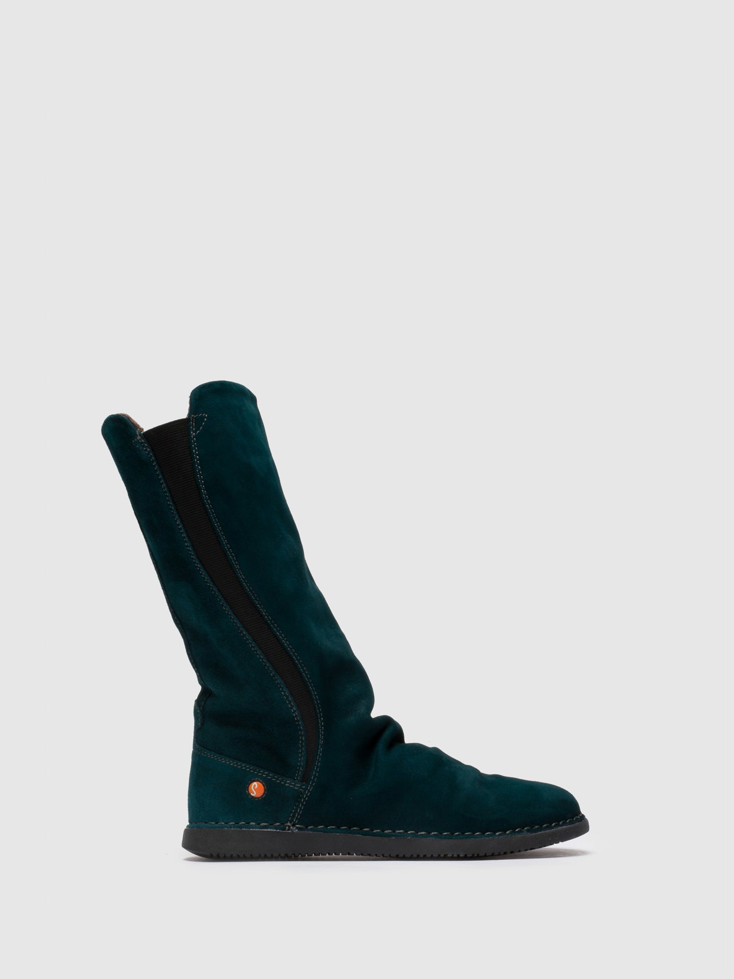 Softinos DarkGreen Knee-High Boots