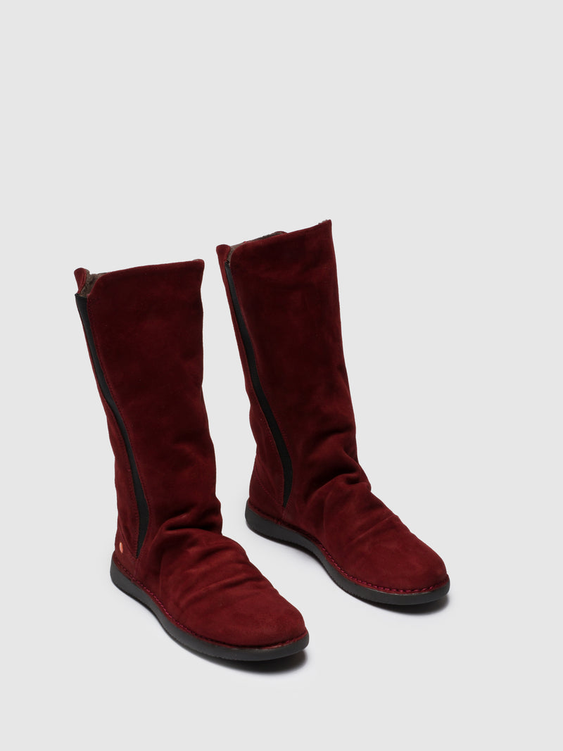 Softinos DarkRed Knee-High Boots