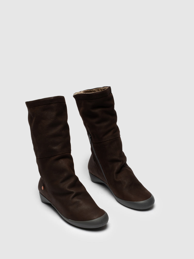 SOFTINOS SaddleBrown Knee-High Boots