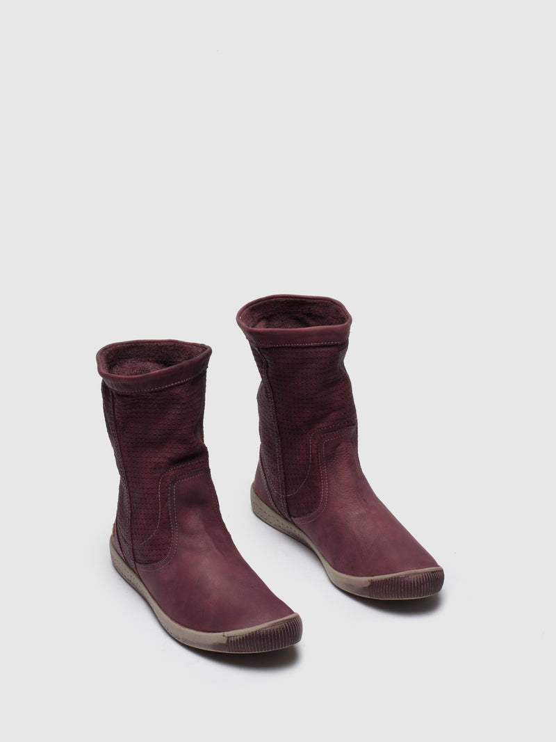 SOFTINOS Magenta Knee-High Boots