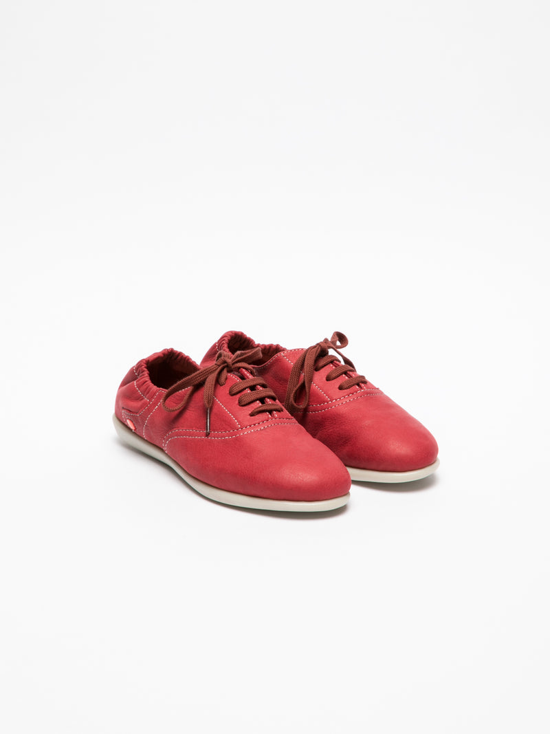 SOFTINOS Crimson Lace-up Trainers