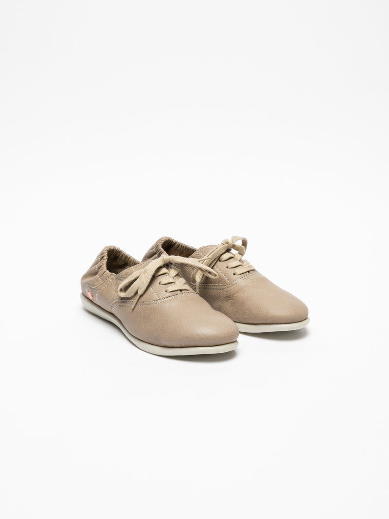 Tan Lace-up Trainers