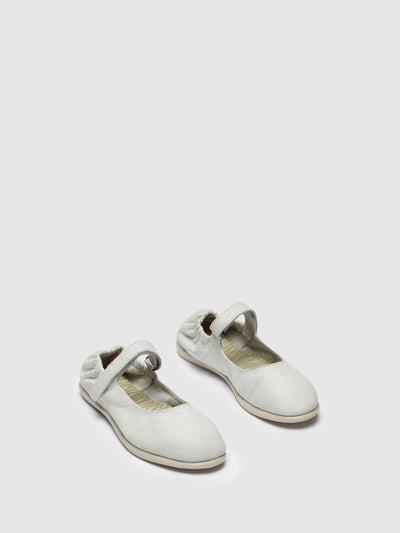 Softinos White Classic Ballerinas
