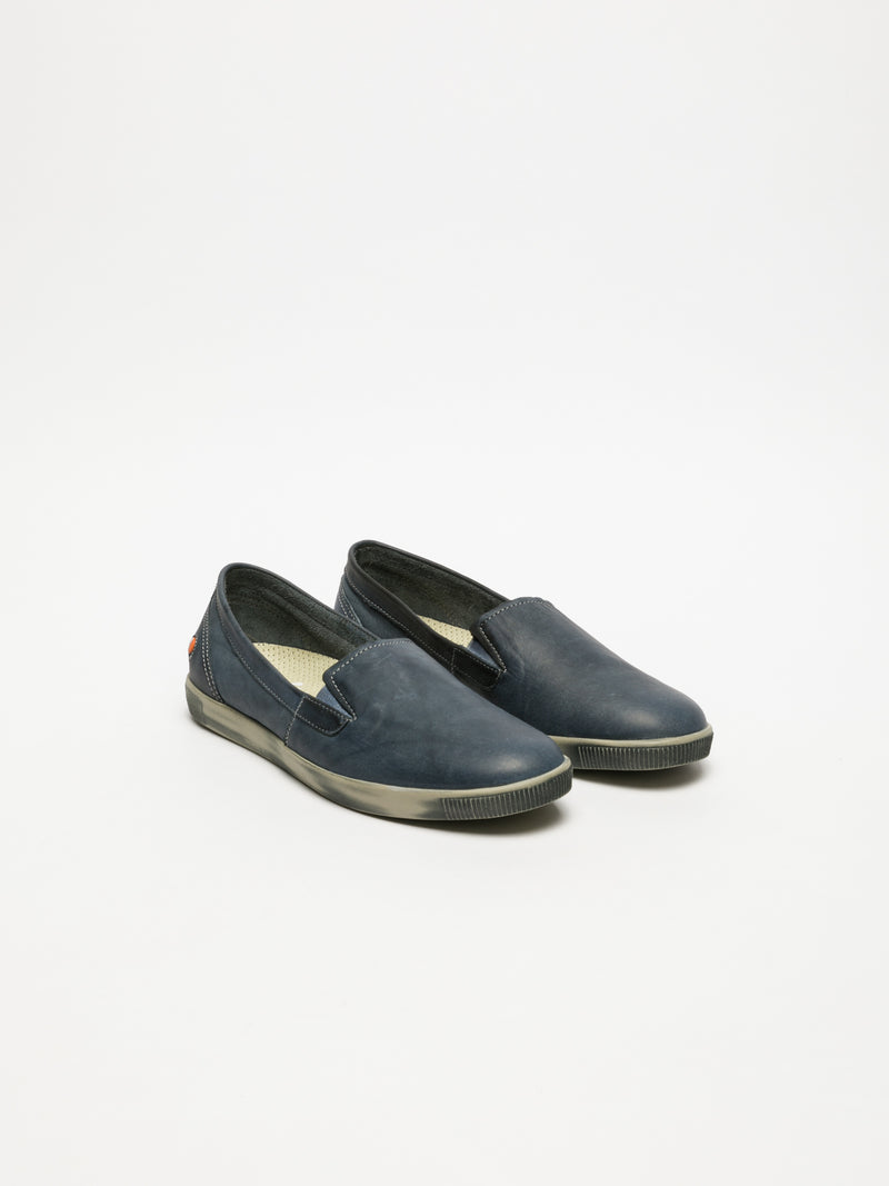 Navy Slip-on Trainers