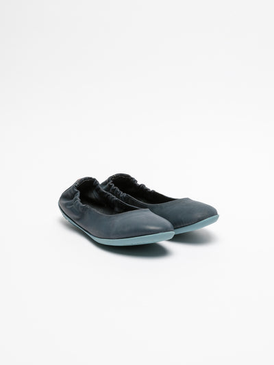 SOFTINOS Navy Elasticated Ballerinas