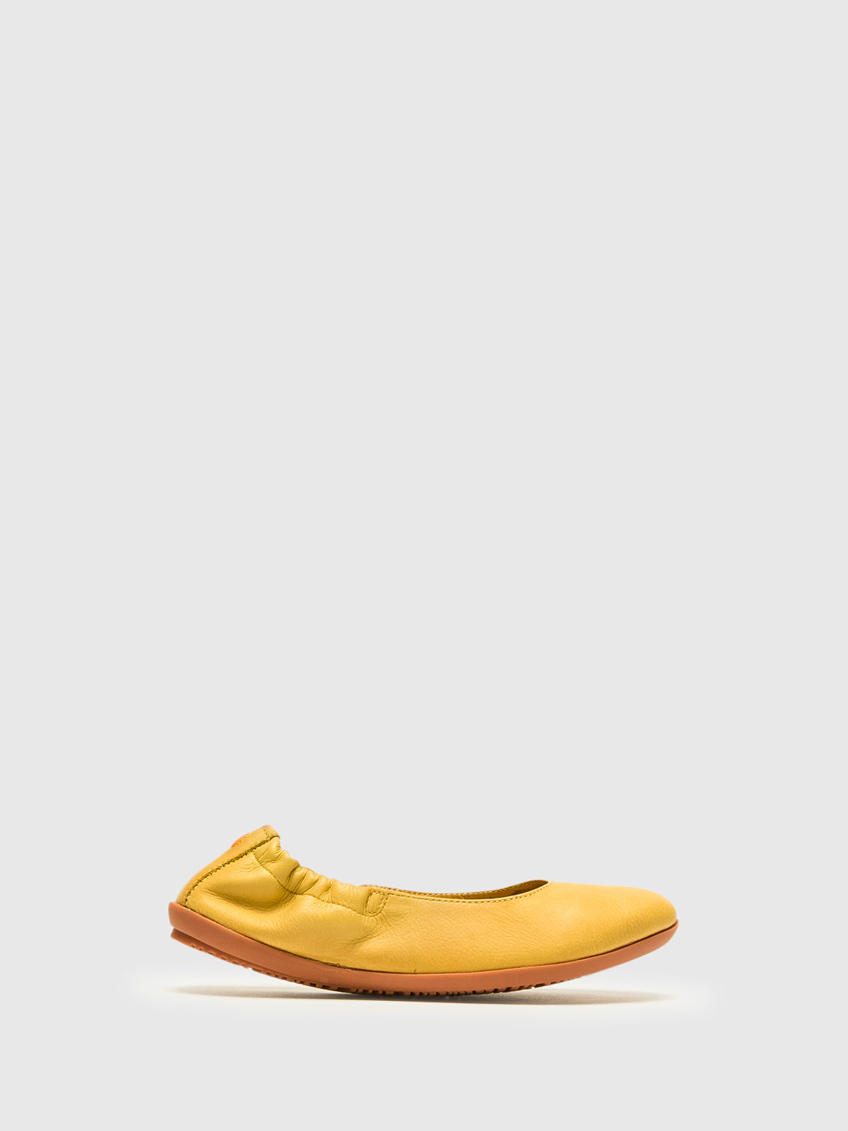 SOFTINOS Yellow Elasticated Ballerinas