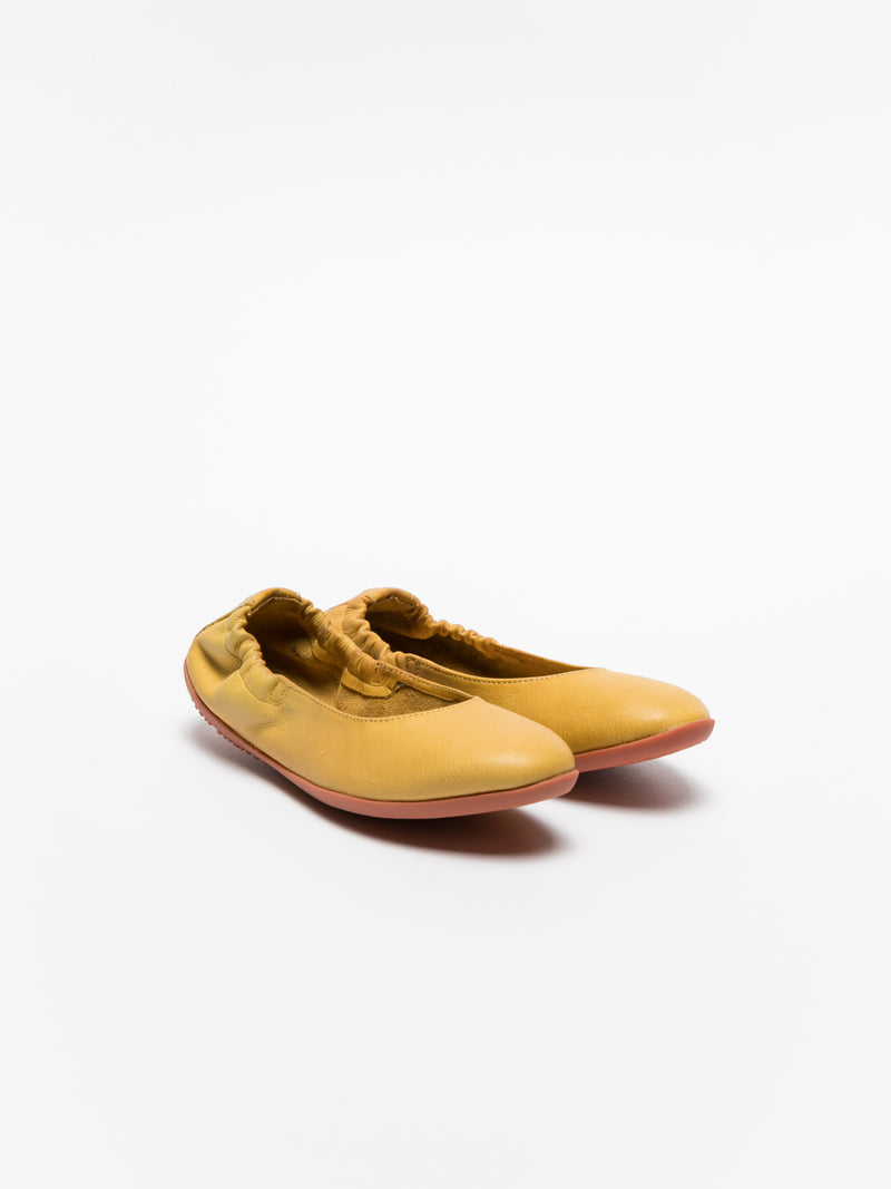 Yellow Elasticated Ballerinas