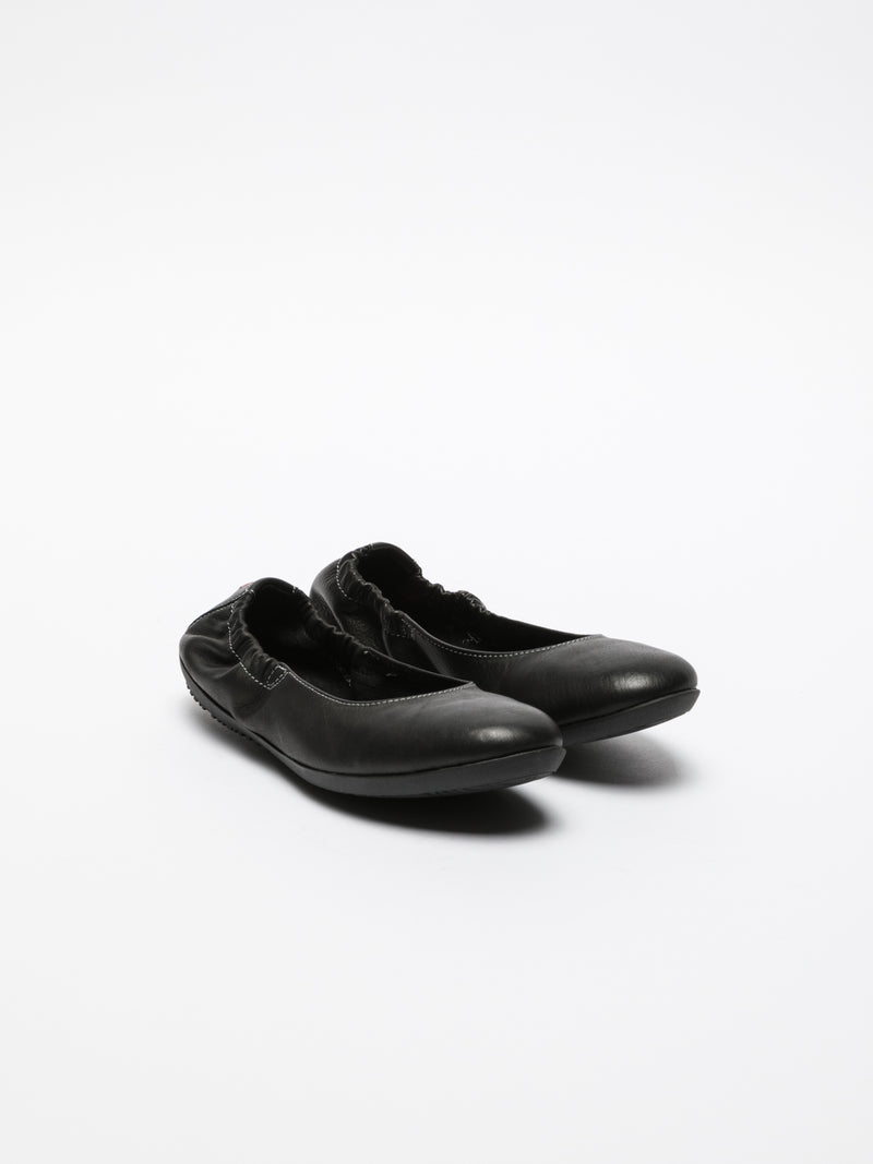 Black Elasticated Ballerinas