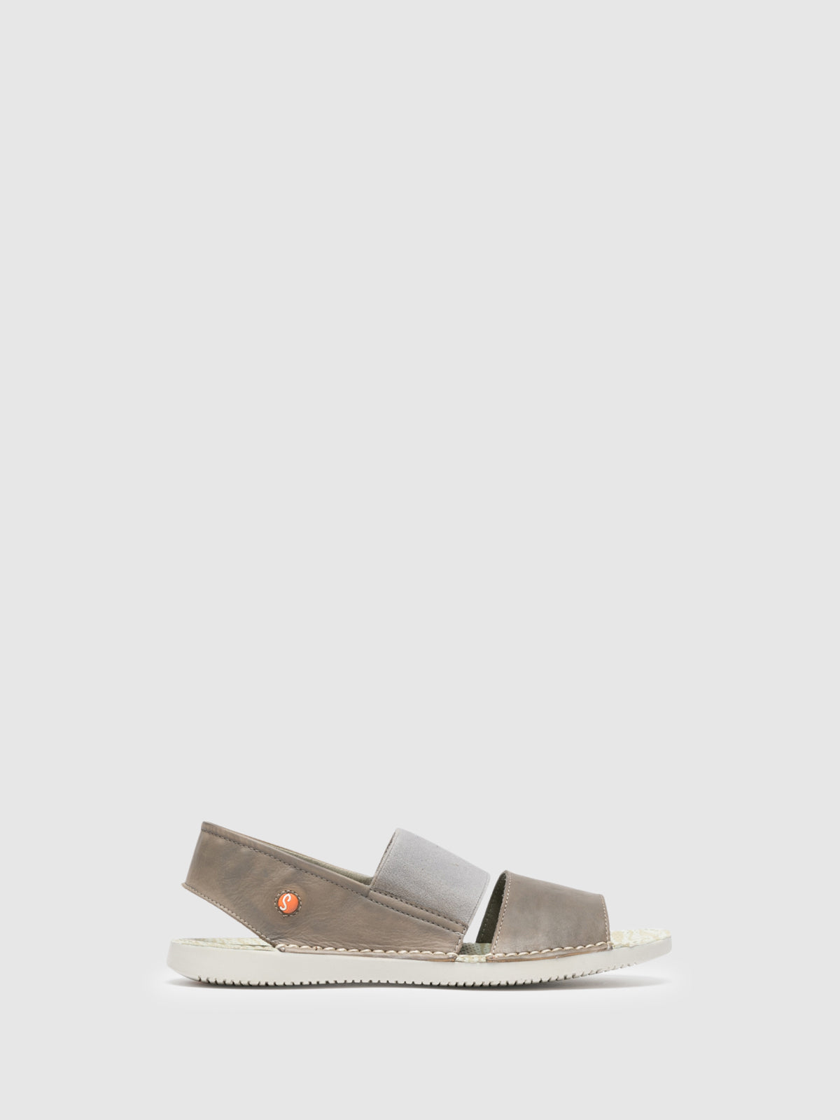 SOFTINOS Gray Sling-Back Sandals