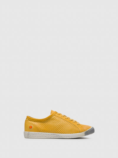 Softinos Lace-up Trainers ICA388SOF Yellow