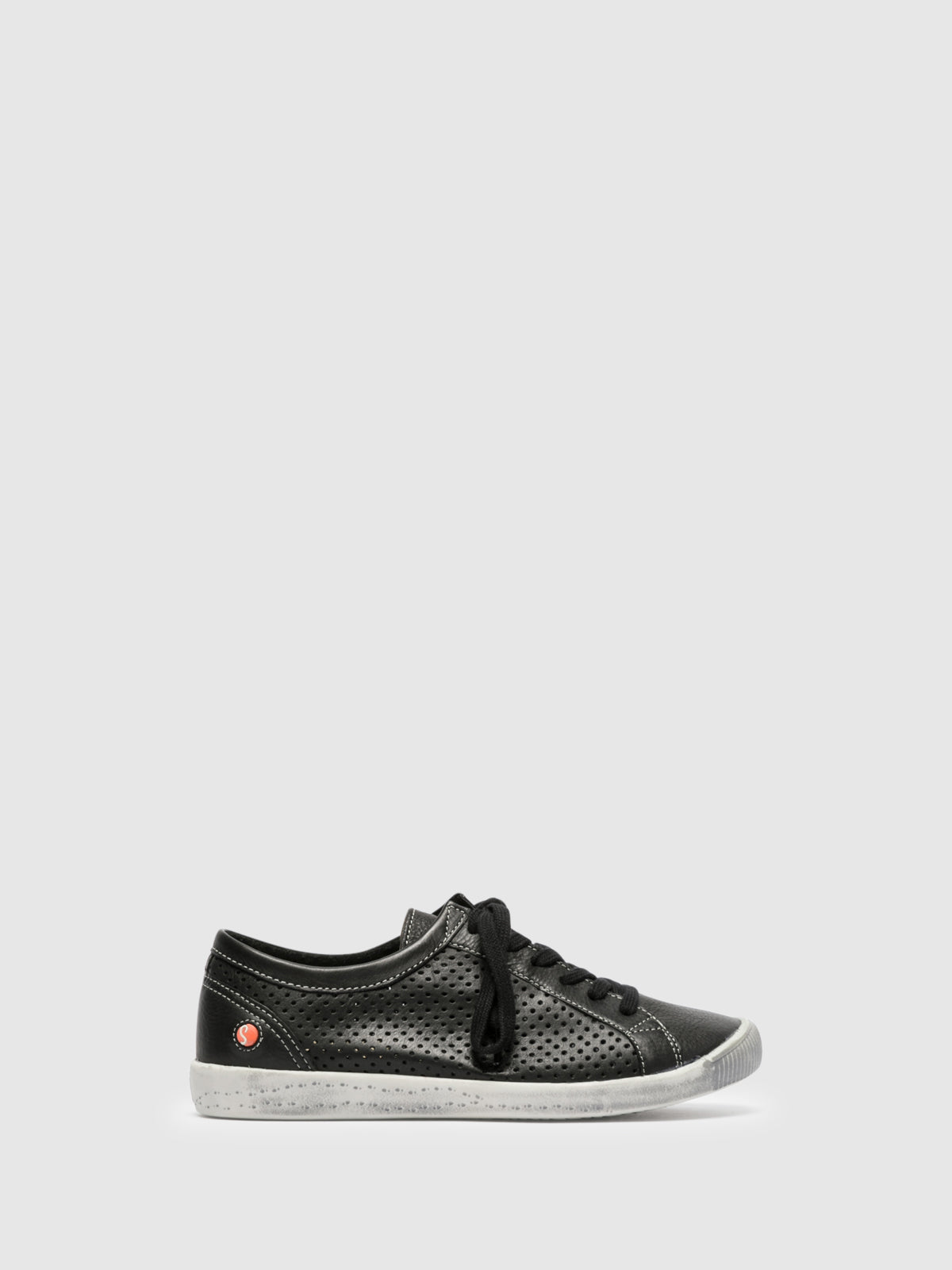 Softinos Lace-up Trainers ICA388SOF Black