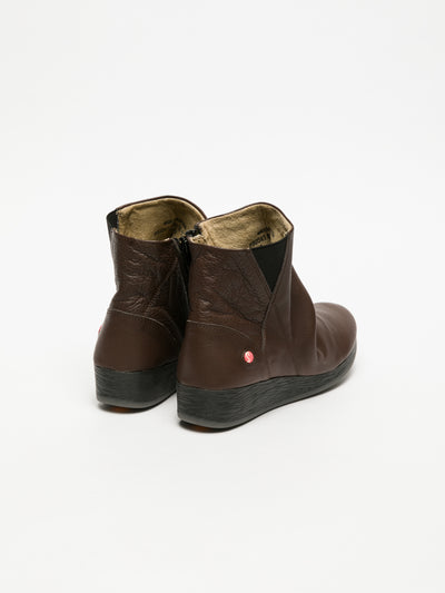 Softinos Brown Wedge Ankle Boots