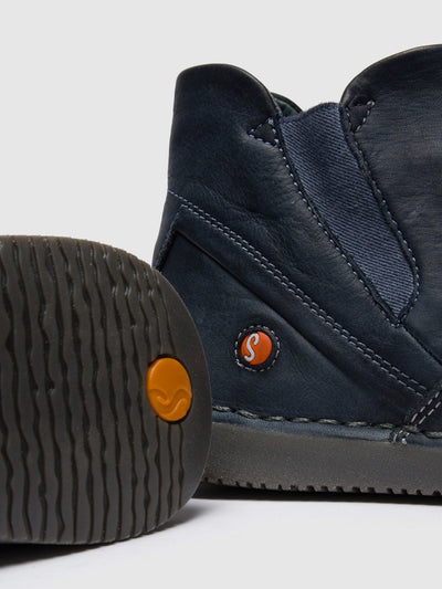 SOFTINOS Navy Round Toe Ankle Boots