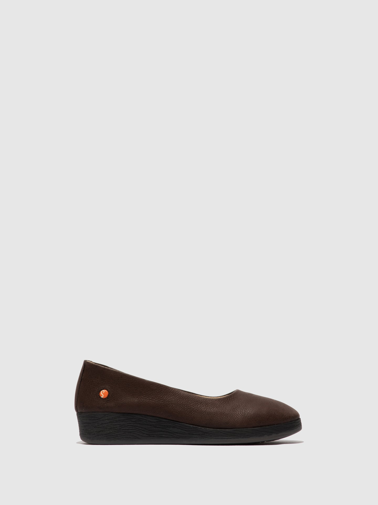 Softinos SaddleBrown Wedge Shoes