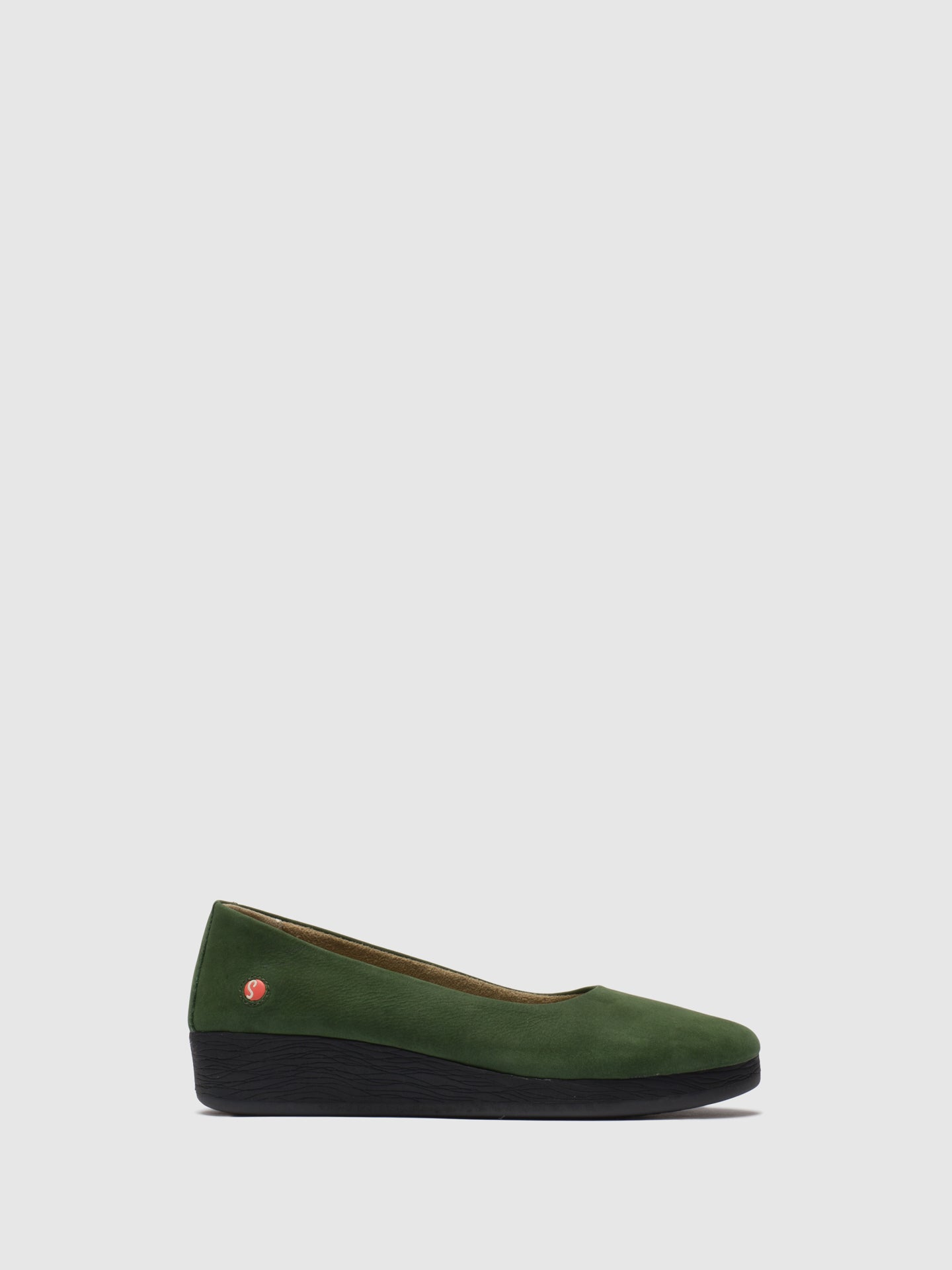 Softinos DarkGreen Wedge Shoes