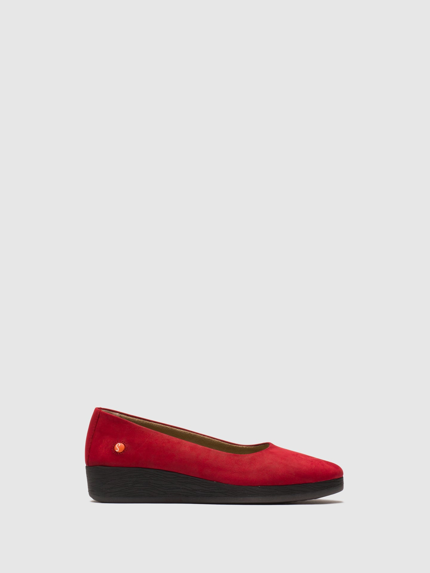 Softinos Red Wedge Shoes