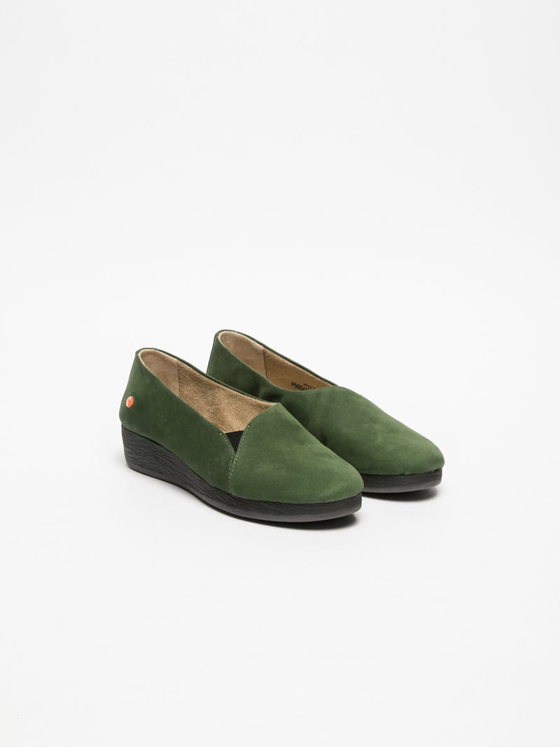 DarkGreen Wedge Shoes