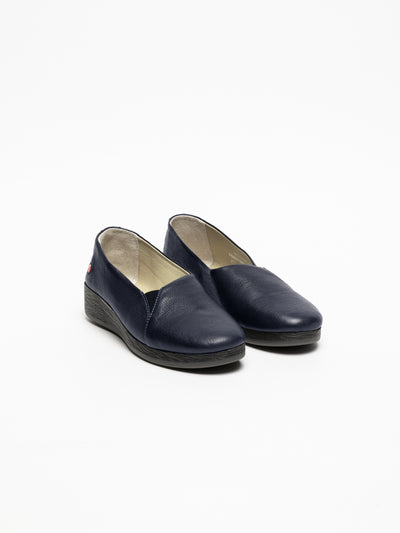 SOFTINOS Navy Wedge Shoes