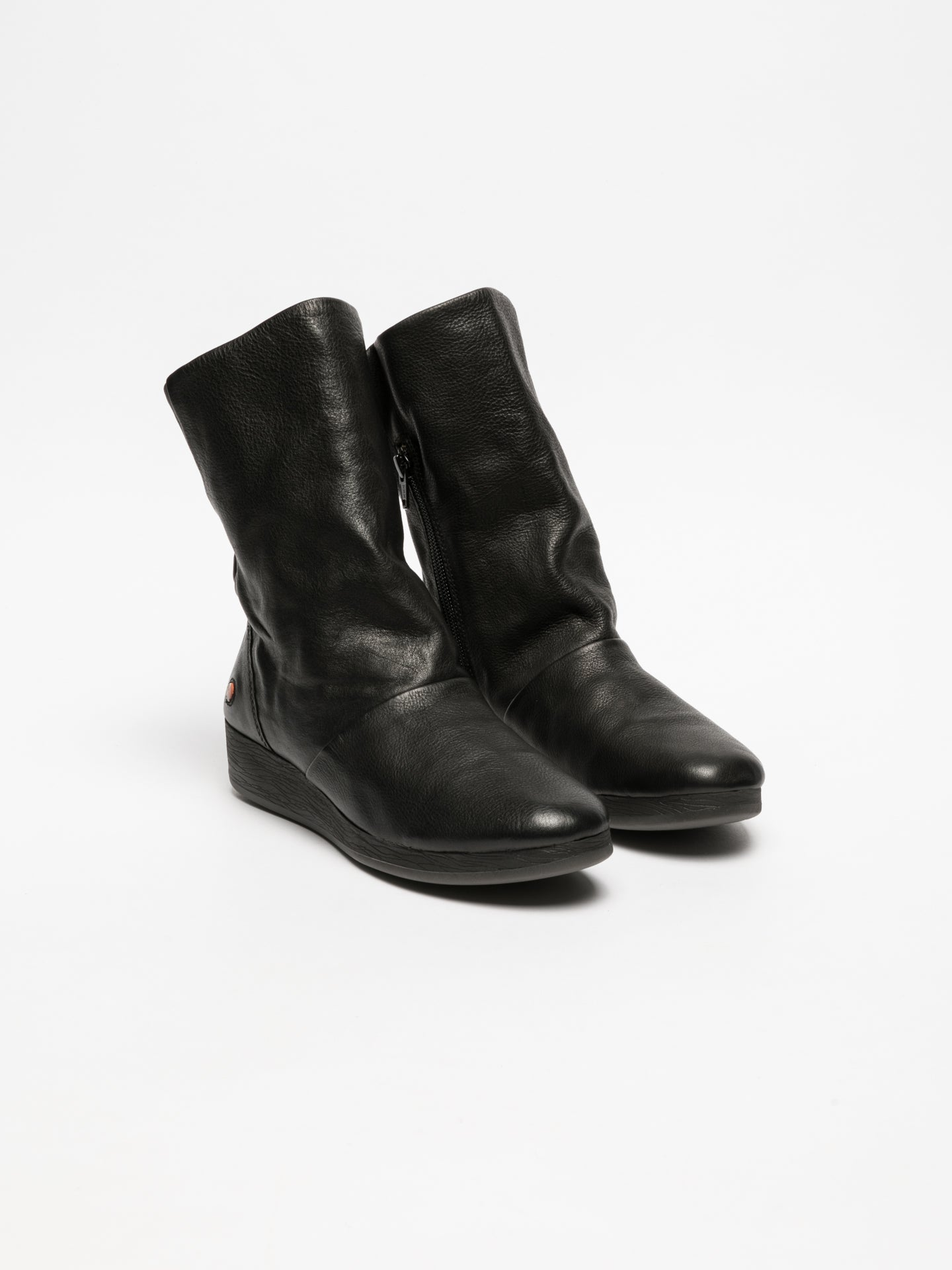 Softinos Black Wedge Ankle Boots