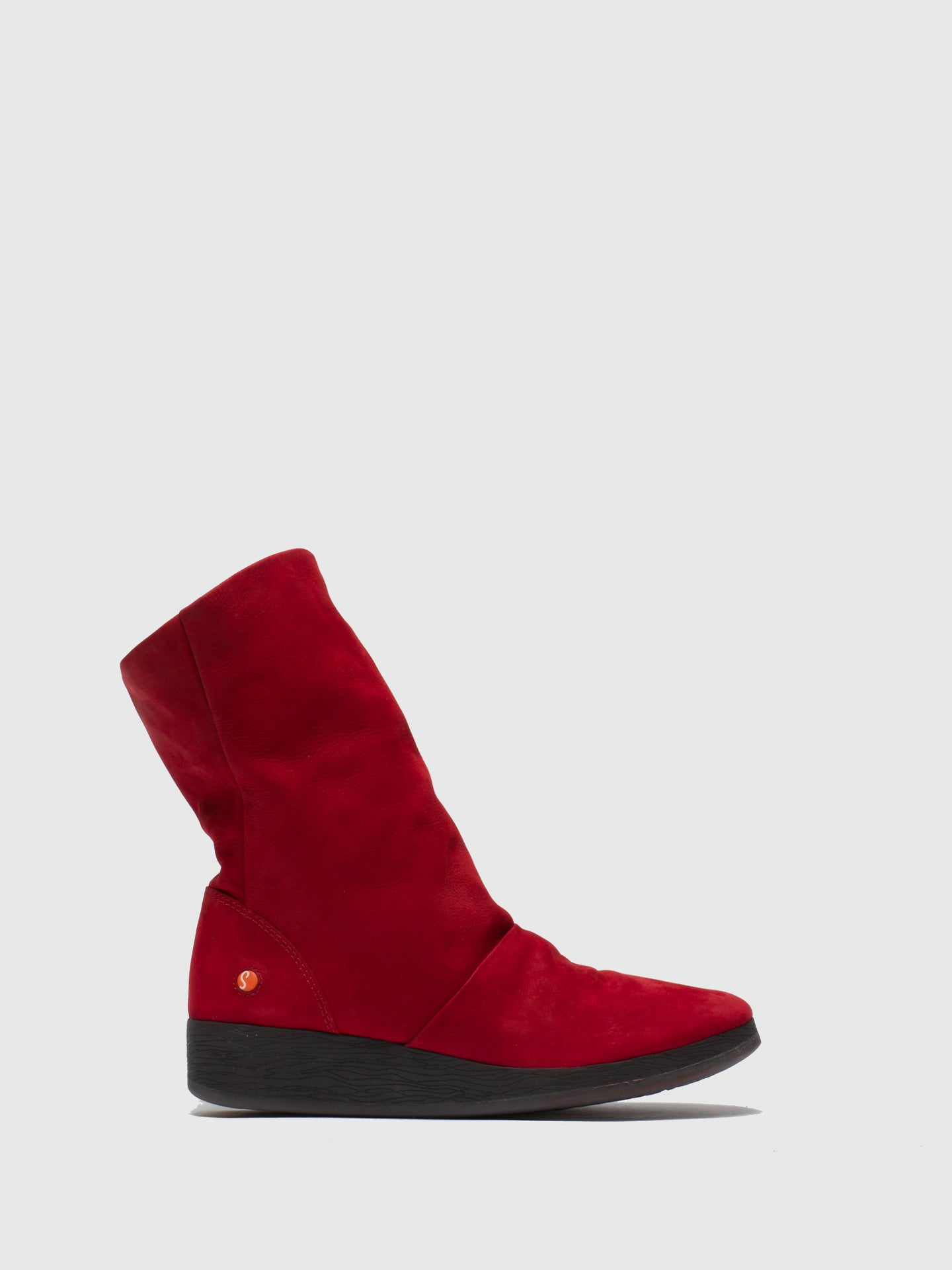 SOFTINOS Red Wedge Ankle Boots