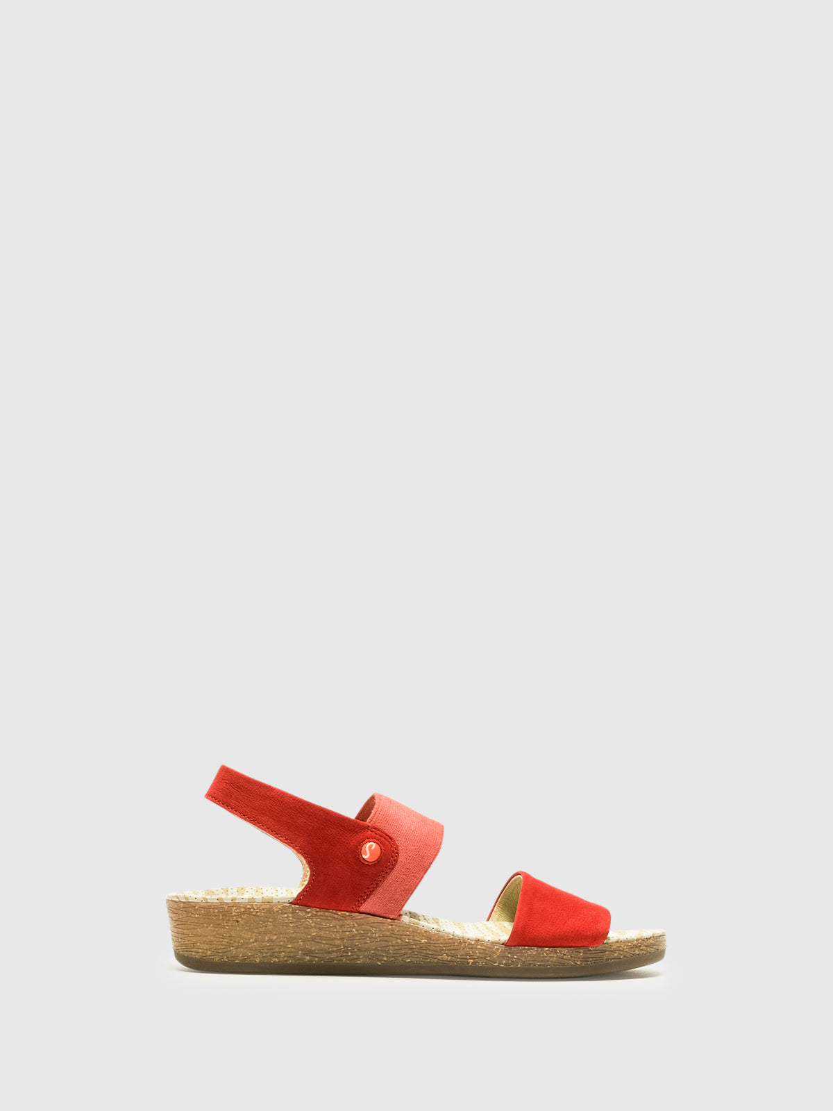 Softinos Red Strappy Sandals
