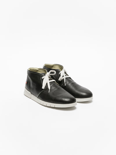 SOFTINOS Black Low-Top Trainers