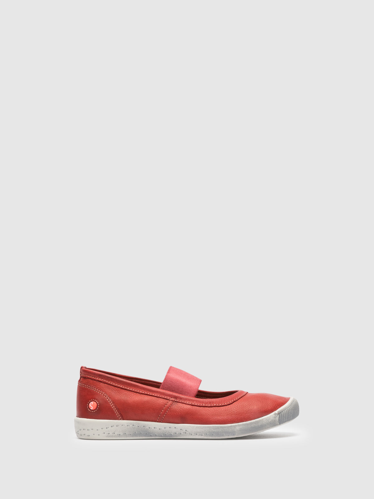 Softinos Red Elasticated Ballerinas
