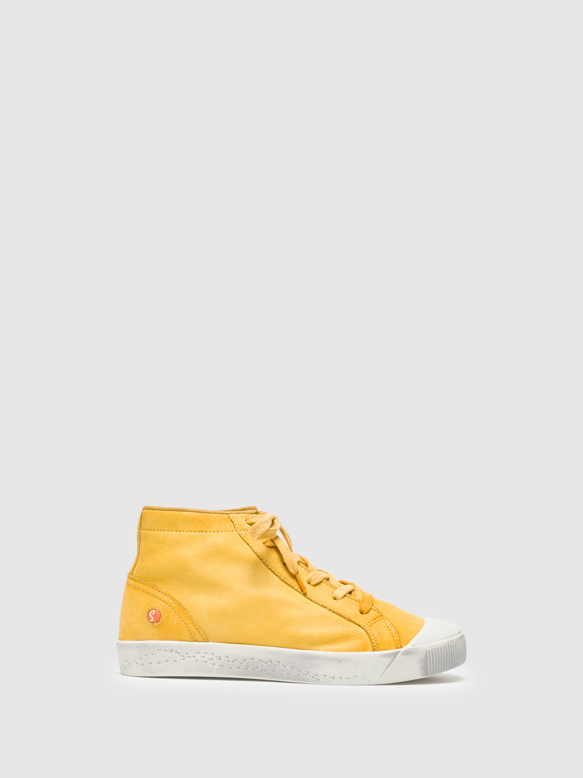 SOFTINOS Yellow Hi-Top Trainers