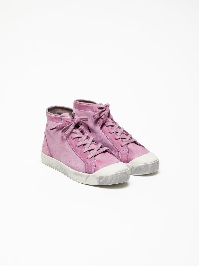 SOFTINOS Violet Hi-Top Trainers