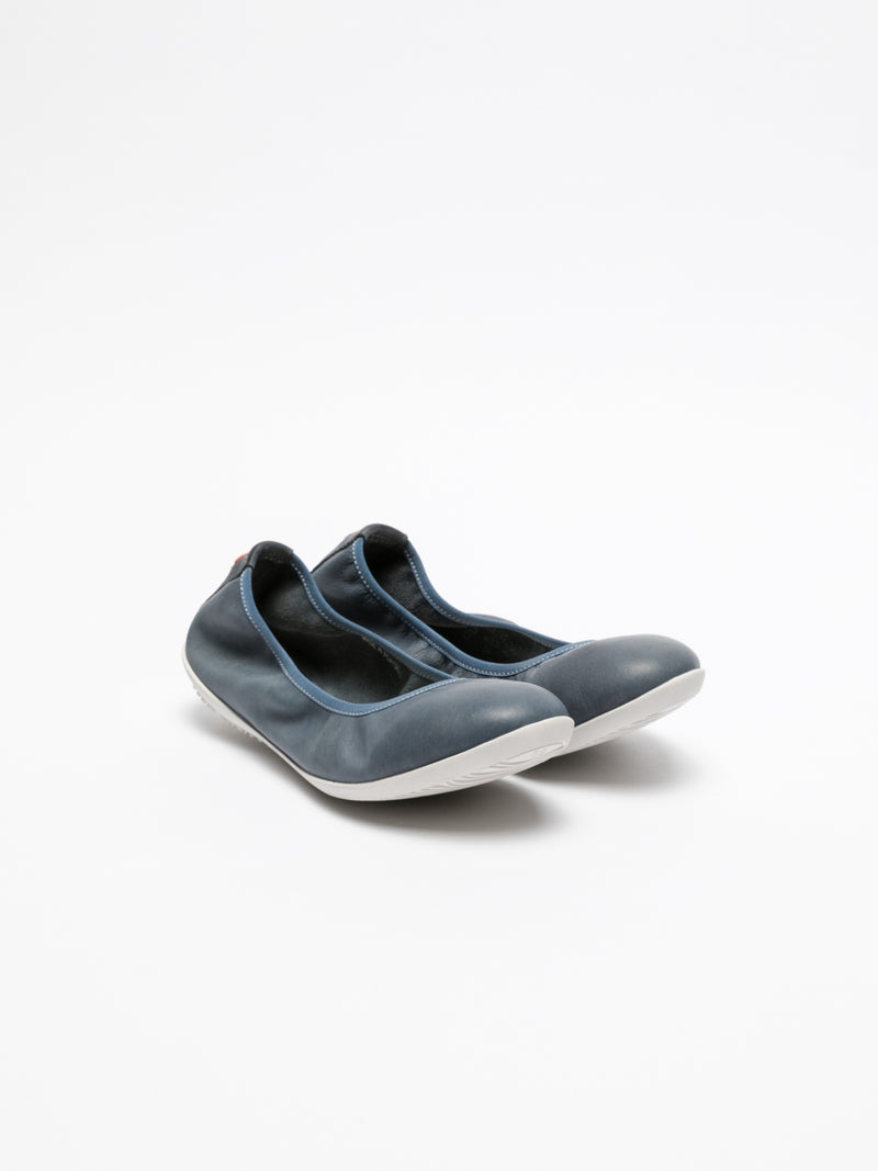 Softinos Navy Classic Ballerinas