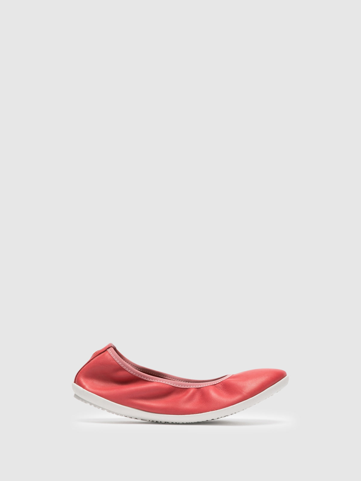 SOFTINOS Red Classic Ballerinas