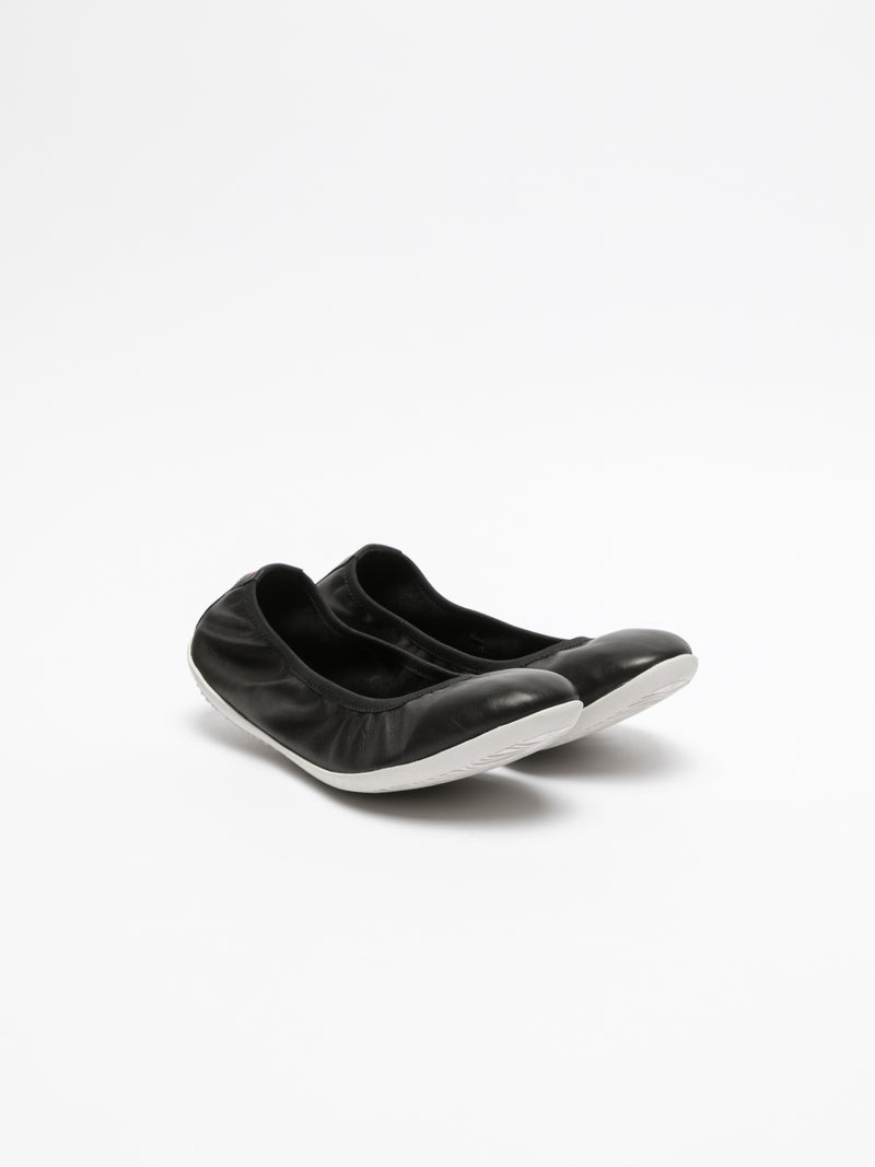 SOFTINOS Black Classic Ballerinas