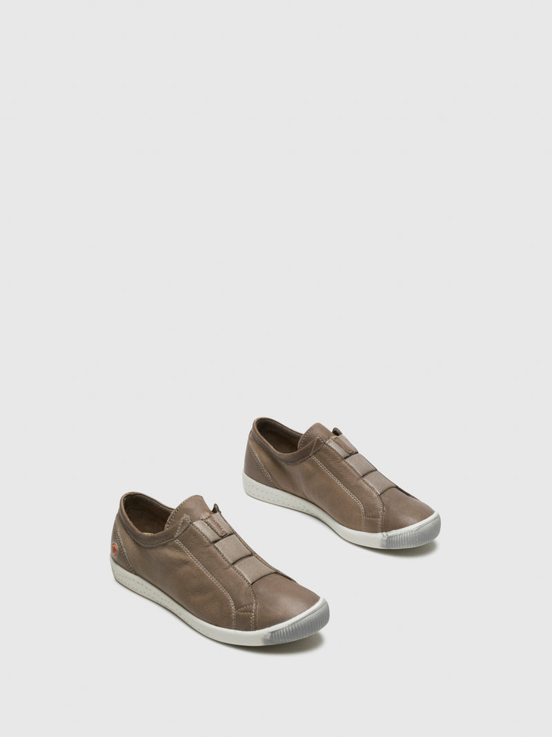 Tan Slip-on Trainers