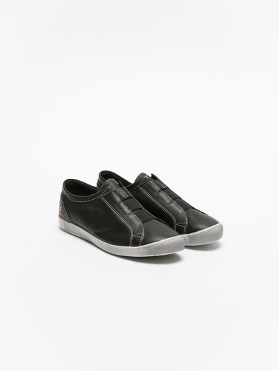 SOFTINOS Black Slip-on Trainers