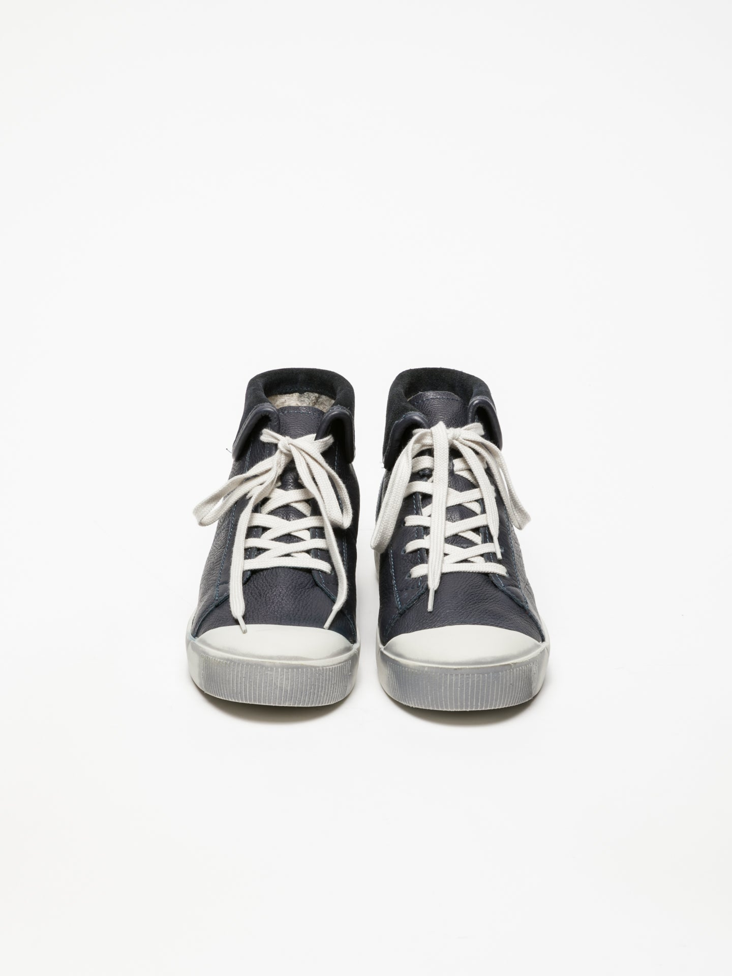 Softinos Navy Hi-Top Trainers