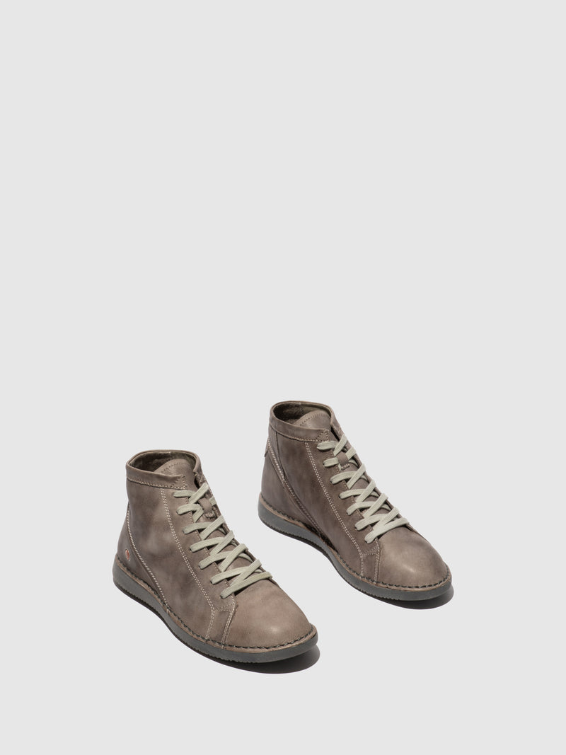 Softinos Tan Hi-Top Trainers