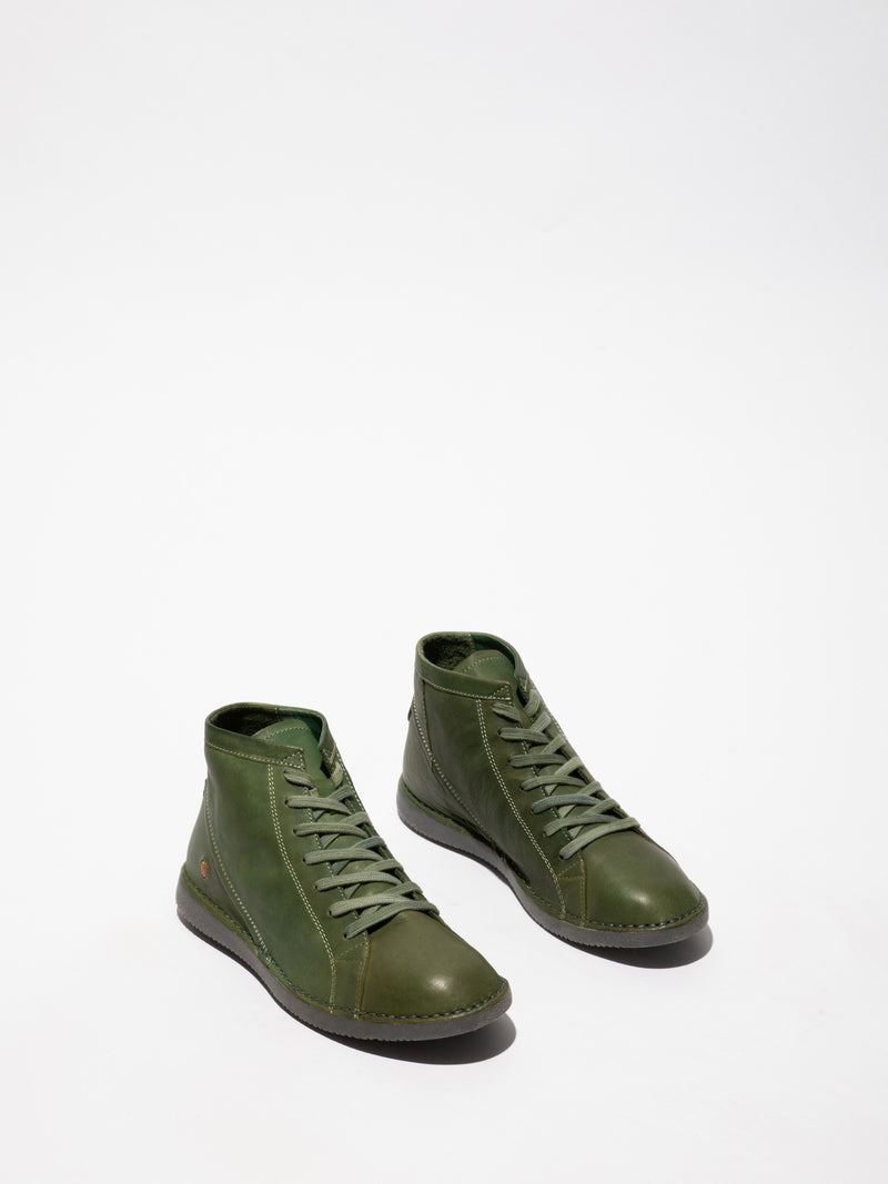 Softinos ForestGreen Hi-Top Trainers