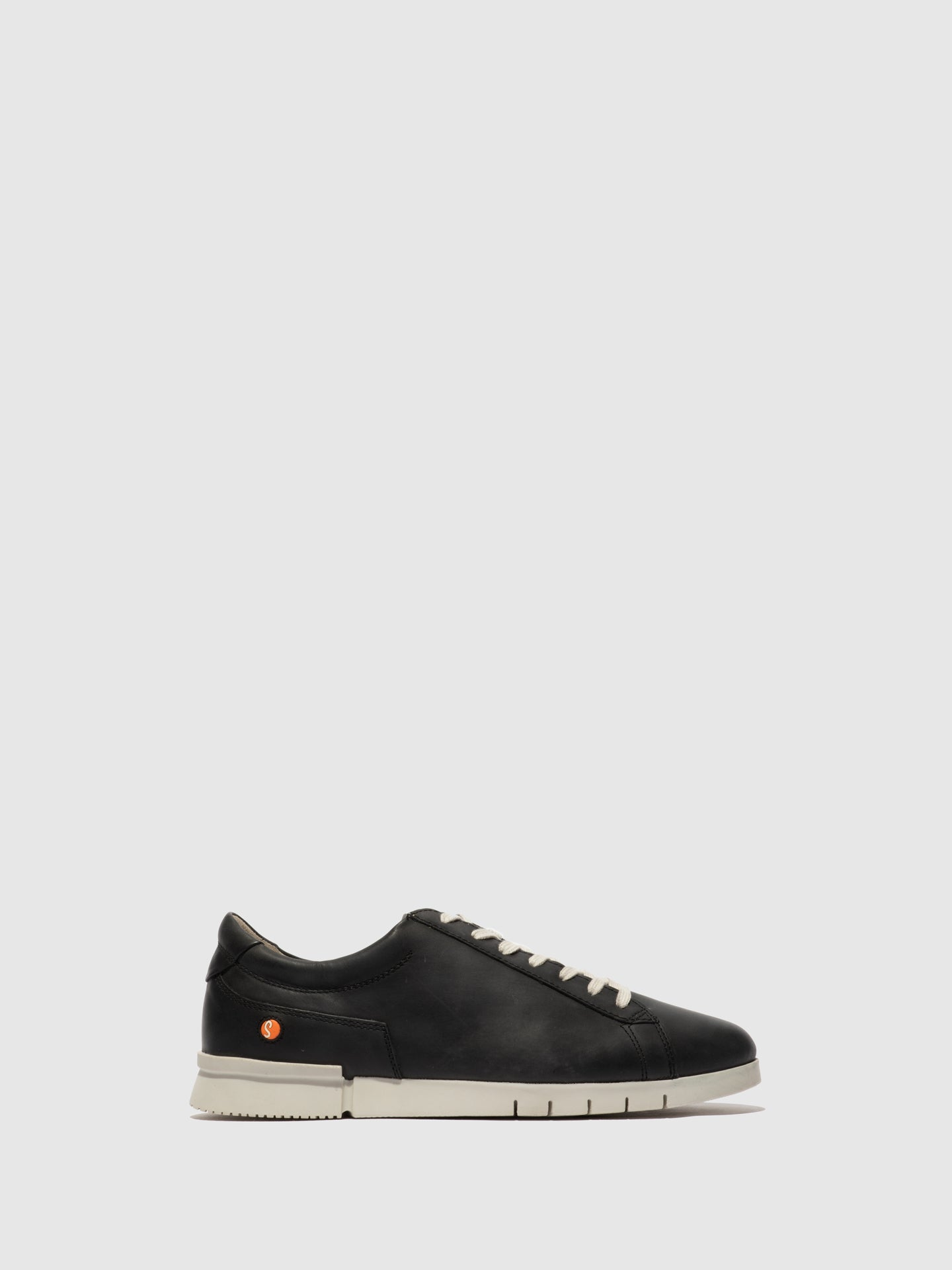 Softinos Coal Black Lace-up Trainers