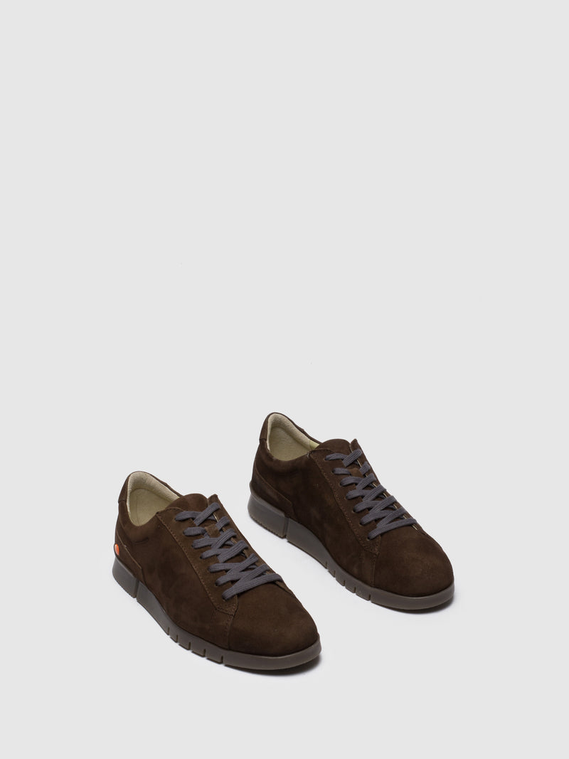 SOFTINOS Chocolate Lace-up Trainers