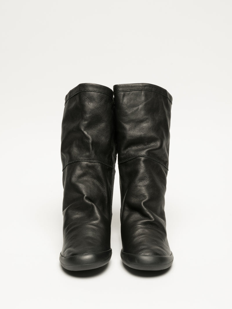 Carbon Black Knee-High Boots