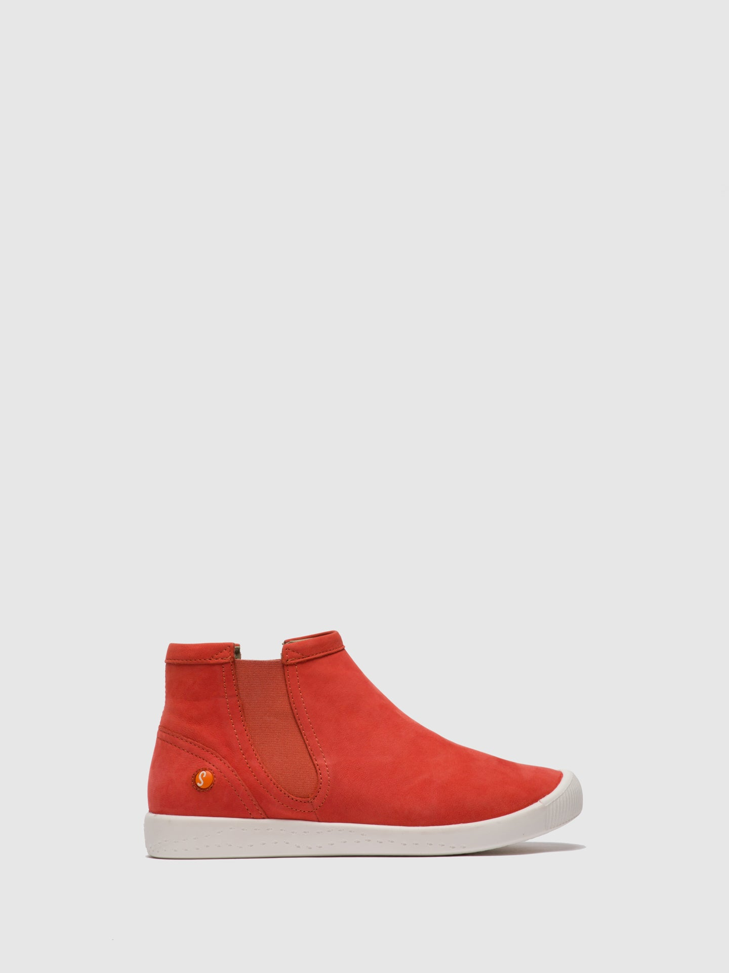 SOFTINOS Elasticated Ankle Boots ICI486SOF Devil Red
